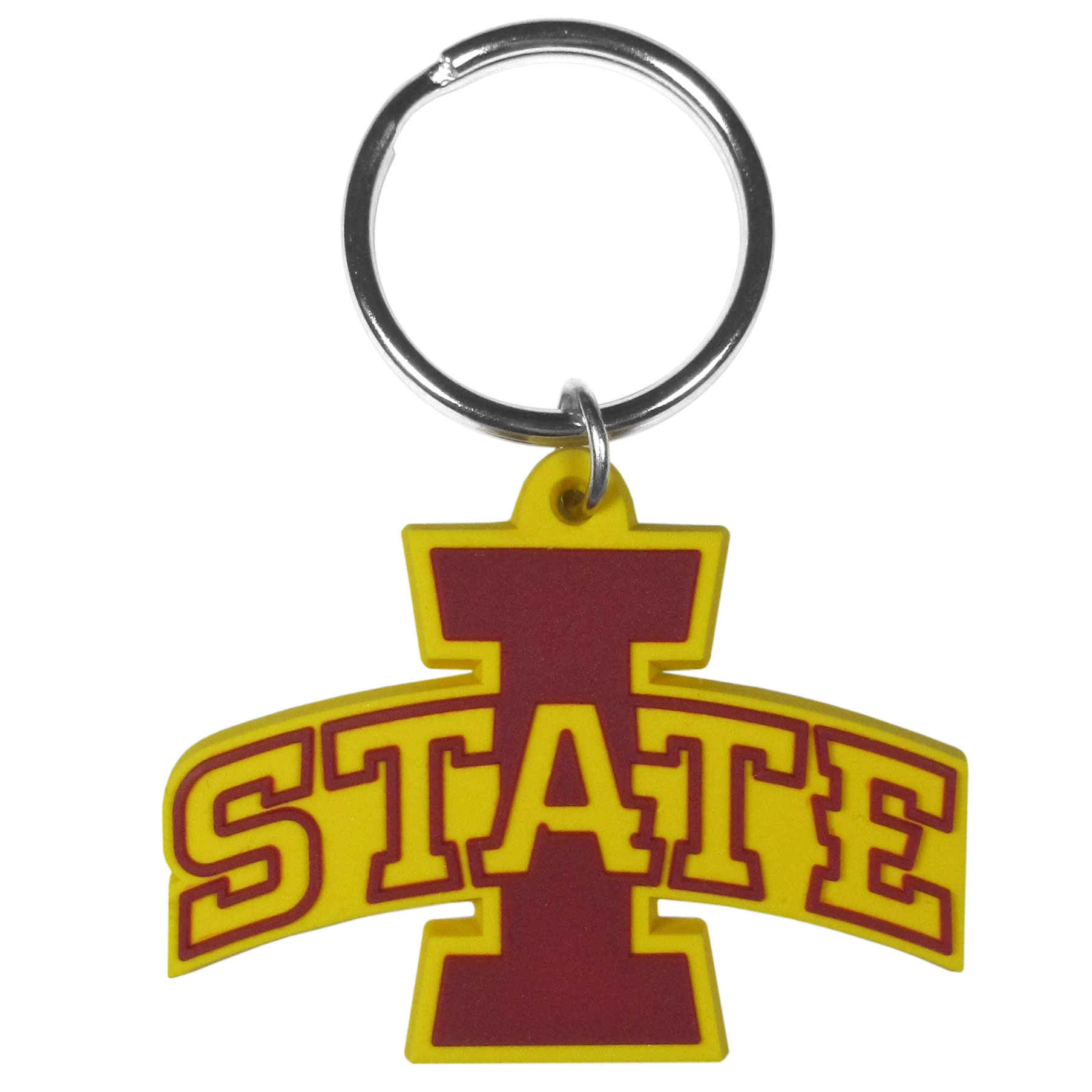 Iowa St. Cyclones Flex Key Chain - Our fun, flexible Iowa St. Cyclones key chains are made of a rubbery material that is layered to create a bright, textured logo.