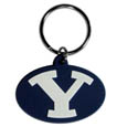 BYU Cougars Flex Key Chain - Our College Flexi key chains are made of a rubbery material that is layered cut in the BYU Cougars primary logo. Thank you for shopping with CrazedOutSports.com