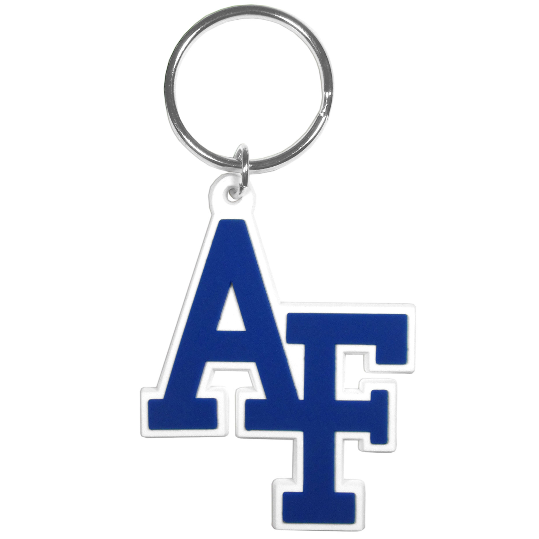 US Air Force Academy Flex Key Chain - Our fun, flexible US Air Force Academy key chains are made of a rubbery material that is layered to create a bright, textured logo.
