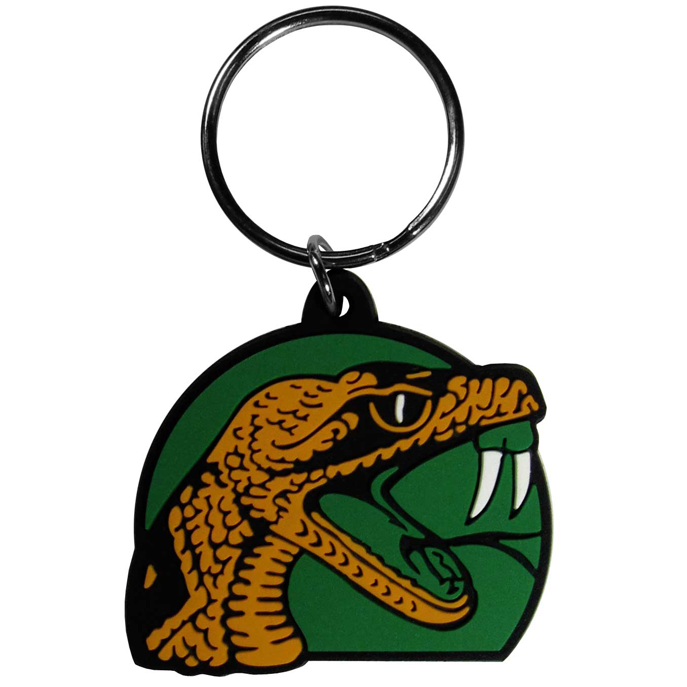 Florida A&M Rattlers Flex Key Chain - Our fun, flexible Florida A&M Rattlers key chains are made of a rubbery material that is layered to create a bright, textured logo.