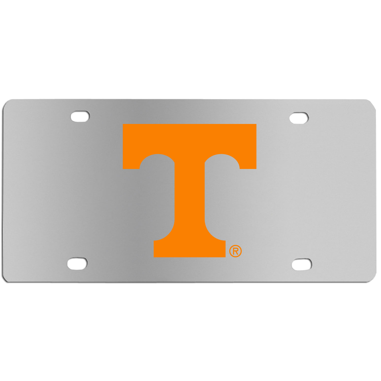 Tennessee Volunteers Steel License Plate Wall Plaque - This high-quality stainless steel license plate features a detailed team logo on a the polished surface. The attractive plate is perfect for wall mounting in your home or office to become the perfect die-hard Tennessee Volunteers fan decor.