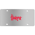 Nebraska Cornhuskers Steel License Plate Wall Plaque