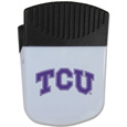 TCU Horned Frogs Chip Clip Magnet - Use this attractive clip magnet to hold memos, photos or appointment cards on the fridge or take it down keep use it to clip bags shut. The magnet features a silk screened TCU Horned Frogs logo. Thank you for shopping with CrazedOutSports.com