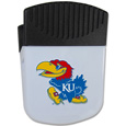 Kansas Jayhawks Chip Clip Magnet - Use this attractive Kansas Jayhawks clip magnet to hold memos, photos or appointment cards on the fridge or take it down keep use it to clip bags shut. The Kansas Jayhawks Chip Clip Magnet features a silk screened Kansas Jayhawks logo. Thank you for shopping with CrazedOutSports.com