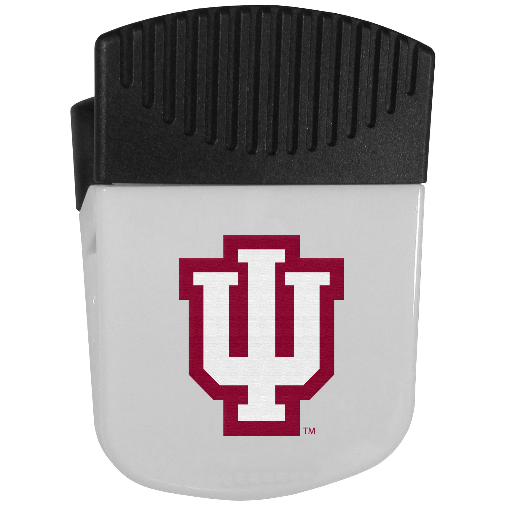 Indiana Hoosiers Chip Clip Magnet - Use this attractive clip magnet to hold memos, photos or appointment cards on the fridge or take it down keep use it to clip bags shut. The magnet features a silk screened Indiana Hoosiers logo.