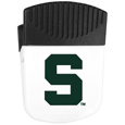Michigan St. Spartans Chip Clip Magnet - Use this attractive clip magnet to hold memos, photos or appointment cards on the fridge or take it down keep use it to clip bags shut. The magnet features a silk screened Michigan St. Spartans logo. Thank you for shopping with CrazedOutSports.com