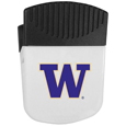 Washington Huskies Chip Clip Magnet - Use this attractive clip magnet to hold memos, photos or appointment cards on the fridge or take it down keep use it to clip bags shut. The magnet features a silk screened Washington Huskies logo. Thank you for shopping with CrazedOutSports.com