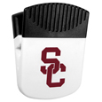 USC Trojans Chip Clip Magnet - Use this attractive clip magnet to hold memos, photos or appointment cards on the fridge or take it down keep use it to clip bags shut. The magnet features a silk screened USC Trojans logo. Thank you for shopping with CrazedOutSports.com