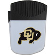 Colorado Buffaloes Chip Clip Magnet - Use this attractive clip magnet to hold memos, photos or appointment cards on the fridge or take it down keep use it to clip bags shut. The magnet features a silk screened Colorado Buffaloes logo. Thank you for shopping with CrazedOutSports.com