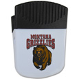 Montana Grizzlies Chip Clip Magnet - Use this attractive clip magnet to hold memos, photos or appointment cards on the fridge or take it down keep use it to clip bags shut. The magnet features a silk screened Montana Grizzlies logo. Thank you for shopping with CrazedOutSports.com