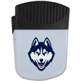 UCONN Huskies Chip Clip Magnet - Use this attractive clip magnet to hold memos, photos or appointment cards on the fridge or take it down keep use it to clip bags shut. The magnet features a silk screened UCONN Huskies logo. Thank you for shopping with CrazedOutSports.com