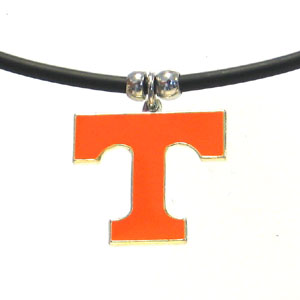 "College Logo Pendant - Tennessee Volunteers -  college logo pendant strung on rubber cord.  Pendants are approximately 1 1/4"" h and enameled in vibrant color.  Features an easy to open/close clasp. Check out our entire line of  college merchandise! Thank you for shopping with CrazedOutSports.com"