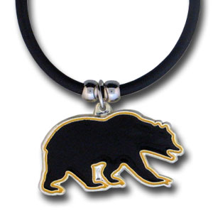 "College Logo Pendant - UC Berkeley Golden Bears -  college logo pendant strung on rubber cord.  Pendants are approximately 1 1/4"" h and enameled in vibrant color.  Features an easy to open/close clasp. Check out our entire line of  college merchandise! Thank you for shopping with CrazedOutSports.com"