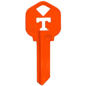 Kwikset Key - Tennessee Volunteers - College house keys are a great way to show school spirit while keeping keys organized. Keys can be cut to fit your home or office Kwikset keys (reference pre-fix CSK for Schlage keys).  Thank you for shopping with CrazedOutSports.com