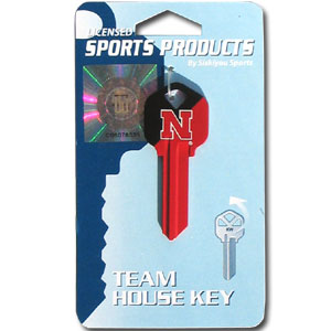 Kwikset Key - Nebraska Cornhuskers - College house keys are a great way to show school spirit while keeping keys organized. Keys can be cut to fit your home or office Kwikset keys (reference pre-fix CSK for Schlage keys).  Thank you for shopping with CrazedOutSports.com