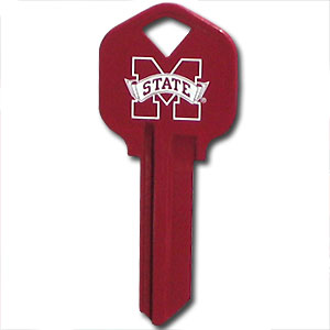 Kwikset Key - Mississippi State Bulldogs - College house keys are a great way to show school spirit while keeping keys organized. Keys can be cut to fit your home or office Kwikset keys (reference pre-fix CSK for Schlage keys).  Thank you for shopping with CrazedOutSports.com
