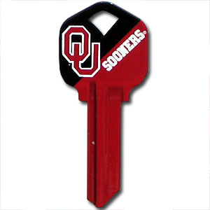 Kwikset Key - Oklahoma Sooners - College house keys are a great way to show school spirit while keeping keys organized. Keys can be cut to fit your home or office Kwikset keys (reference pre-fix CSK for Schlage keys).  Thank you for shopping with CrazedOutSports.com