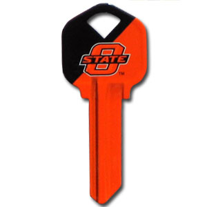 Kwikset Key - Oklahoma State Cowboys - College house keys are a great way to show school spirit while keeping keys organized. Keys can be cut to fit your home or office Kwikset keys (reference pre-fix CSK for Schlage keys).  Thank you for shopping with CrazedOutSports.com