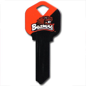 Kwikset Key - Oregon State Beavers - College house keys are a great way to show school spirit while keeping keys organized. Keys can be cut to fit your home or office Kwikset keys (reference pre-fix CSK for Schlage keys).  Thank you for shopping with CrazedOutSports.com