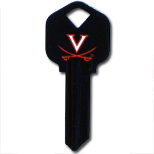 Kwikset Key - Virginia Cavaliers - College house keys are a great way to show school spirit while keeping keys organized. Keys can be cut to fit your home or office Kwikset keys (reference pre-fix CSK for Schlage keys).  Thank you for shopping with CrazedOutSports.com