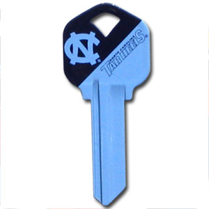 Kwikset Key - North Carolina Tar Heels - College house keys are a great way to show school spirit while keeping keys organized. Keys can be cut to fit your home or office Kwikset keys (reference pre-fix CSK for Schlage keys).  Thank you for shopping with CrazedOutSports.com