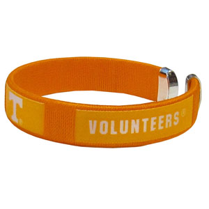 Tennessee Fan Band Bracelet - Our Tennessee Volunteers fan band is a one size fits all string cuff bracelets with a screen printed ribbon with the team name and logo. Thank you for shopping with CrazedOutSports.com