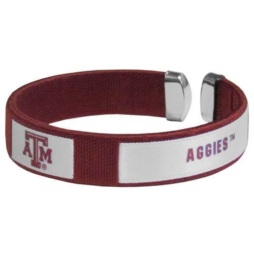 Texas A and M Aggies Fan Bracelet - Our Texas A & M Aggies Fan Bracelet is a one size fits all string cuff bracelets with a screen printed ribbon with the team name and logo. Thank you for shopping with CrazedOutSports.com