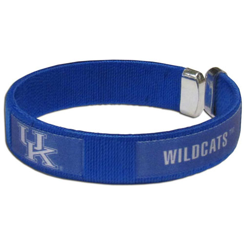 Kentucky Fan Band - Our Kentucky Wildcats fan band is a one size fits all string cuff bracelets with a screen printed ribbon with the team name and logo. Thank you for shopping with CrazedOutSports.com