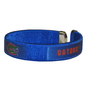 Florida Gators Fan Band Bracelet - Our Florida Gators fan band is a one size fits all string cuff bracelets with a screen printed ribbon with the team name and logo. Thank you for shopping with CrazedOutSports.com