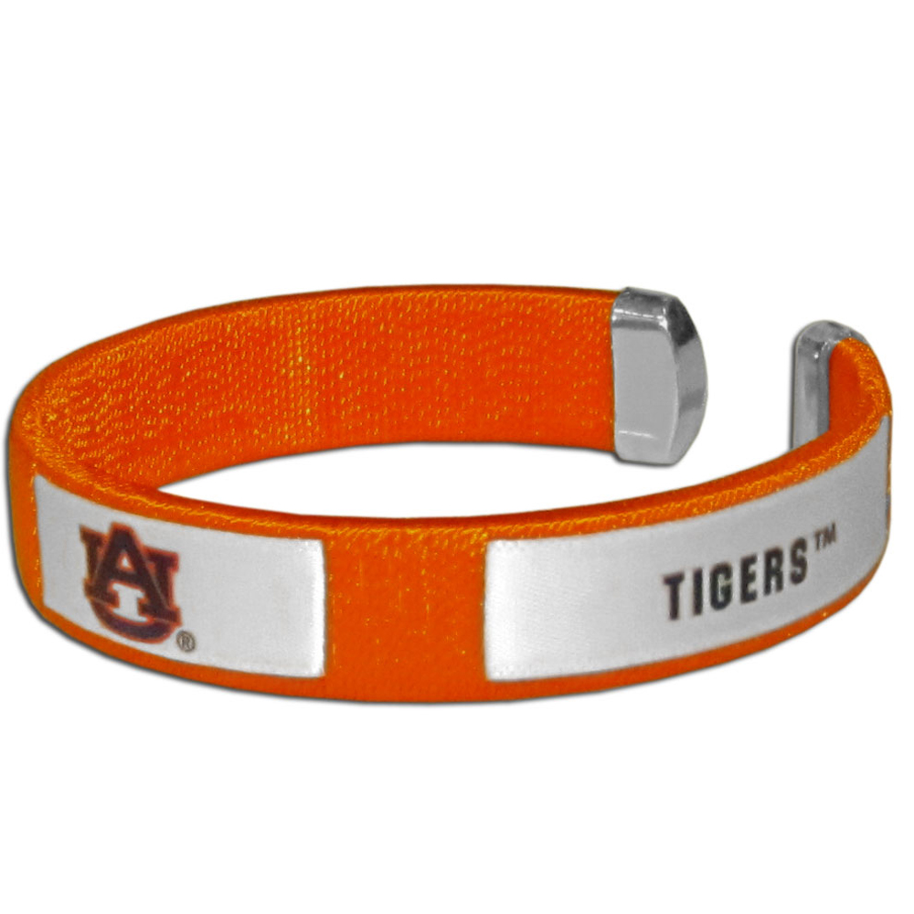 Auburn Tigers Fan Bracelet - Our Fan Bracelet is a one size fits all string cuff bracelets with a screen printed ribbon with the team Auburn Tigers name and logo.