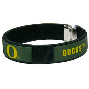 Oregon Fan Band Bracelet - Our Oregon Ducks fan band is a one size fits all string cuff bracelets with a screen printed ribbon with the team name and logo. Thank you for shopping with CrazedOutSports.com