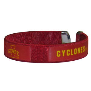 Iowa St. Fan Band Bracelet - Our Iowa St. Cyclones fan band is a one size fits all string cuff bracelets with a screen printed ribbon with the team name and logo. Thank you for shopping with CrazedOutSports.com