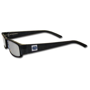 "PENN St. Nittany Lions Reading Glasses - These College PENN St. Nittany Lions Reading Glasses are 5.25"" wide with 5.5"" arms with black colored frames featuring the PENN St. Nittany Lions logo on each arm. Thank you for shopping with CrazedOutSports.com"