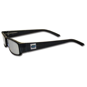 "Florida Gators Reading Glasses - These College Florida Gators Reading Glasses are 5.25"" wide with 5.5"" arms with black colored frames featuring the Florida Gators logo on each arm. Thank you for shopping with CrazedOutSports.com"