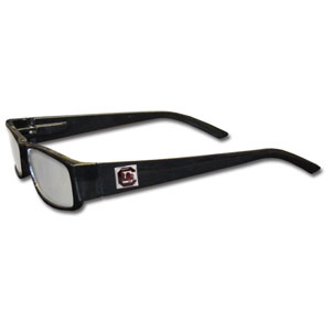 "S. Carolina Gamecocks Reading Glasses - These College S. Carolina Gamecocks Reading Glasses are 5.25"" wide with 5.5"" arms with black colored frames featuring the S. Carolina Gamecocks logo on each arm. Thank you for shopping with CrazedOutSports.com"