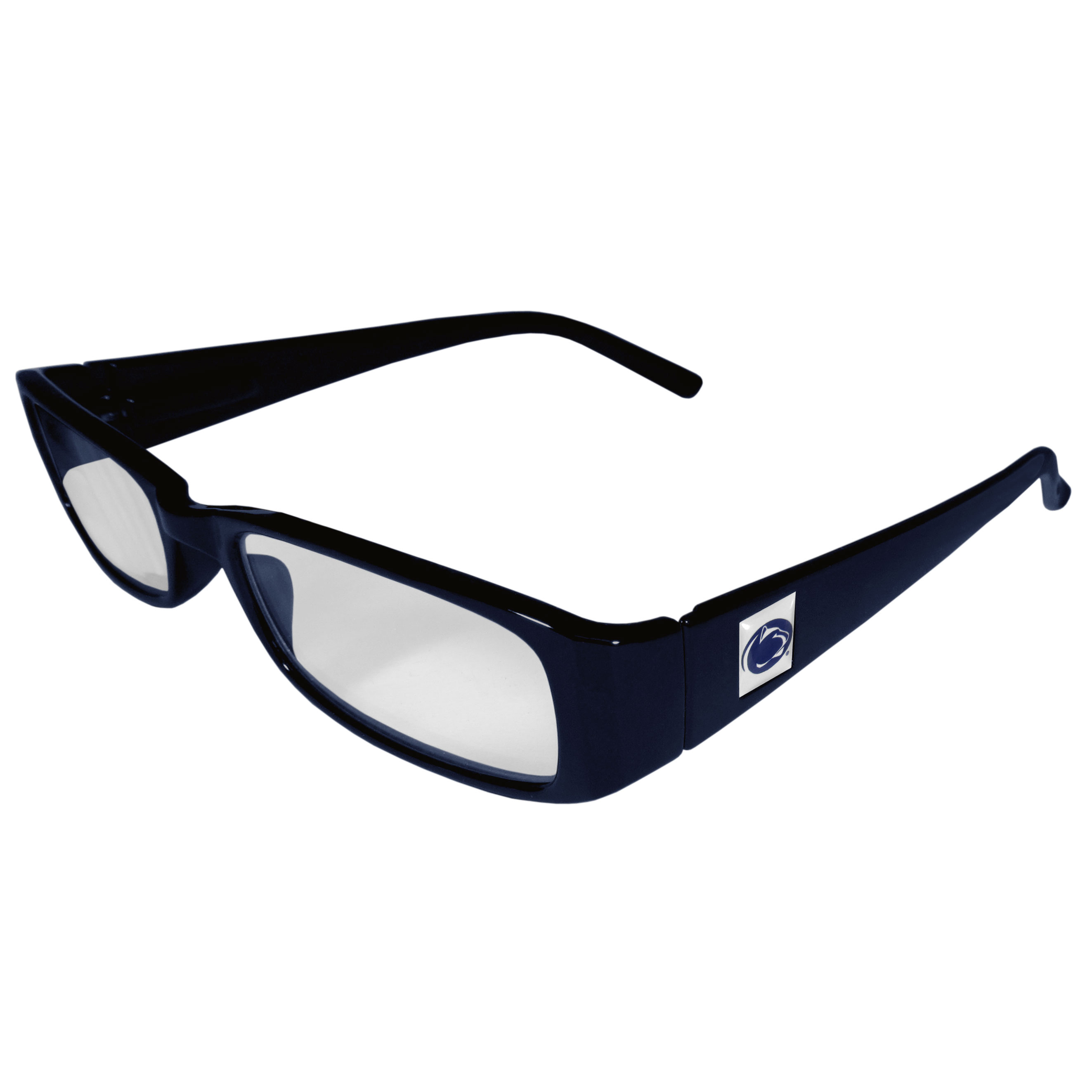 Penn St. Nittany Lions Reading Glasses +1.25 - Our Penn St. Nittany Lions reading glasses are 5.25 inches wide and feature the team logo on each arm. Magnification Power 1.25
