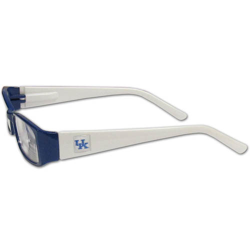 Kentucky Wildcats Reading Glasses +1.25 - Our Kentucky Wildcats reading glasses are 5.25 inches wide and feature the team logo on each arm. Magnification Power 1.25
