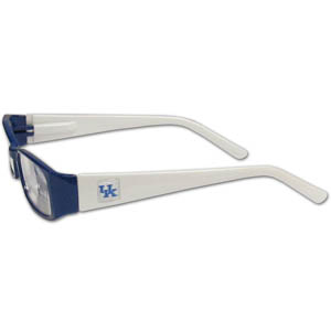 "Kentucky Wildcats Reading Glasses - These College Kentucky Wildcats Reading Glasses are 5.25"" wide with 5.5"" arms with Kentucky Wildcats colored frames featuring the Kentucky Wildcats logo on each arm. Thank you for shopping with CrazedOutSports.com"