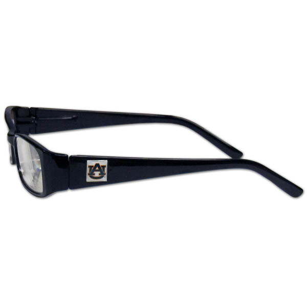 Auburn Tigers Reading Glasses +2.50 - Our Auburn Tigers reading glasses are 5.25 inches wide and feature the team logo on each arm. Magnification Power 2.50