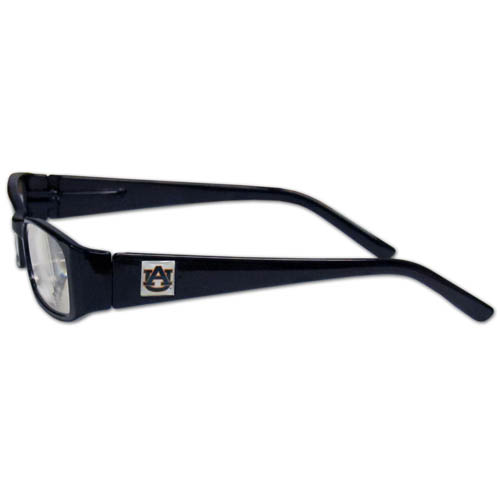 "Auburn Tigers Reading Glasses - These College Auburn Tigers Reading Glasses are 5.25"" wide with 5.5"" arms with Auburn Tigers colored frames featuring the Auburn Tigers team logo on each arm. Thank you for shopping with CrazedOutSports.com"