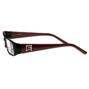 "S. Carolina Gamecocks Reading Glasses - These College S. Carolina Gamecocks Reading Glasses are 5.25"" wide with 5.5"" arms with S. Carolina Gamecocks colored frames featuring the S. Carolina Gamecocks logo on each arm. Thank you for shopping with CrazedOutSports.com"