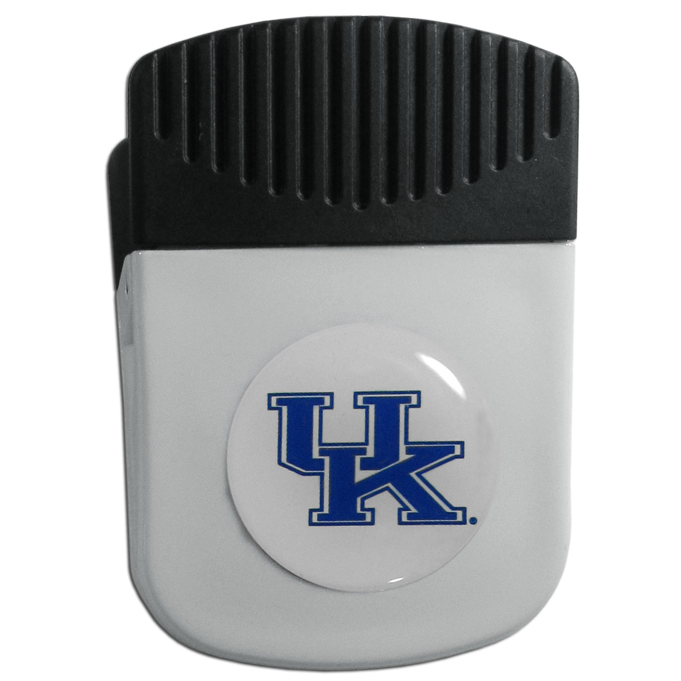 Kentucky Wildcats Chip Clip Magnet - Use this attractive clip magnet to hold memos, photos or appointment cards on the fridge or take it down keep use it to clip bags shut. The magnet features a domed Kentucky Wildcats logo.