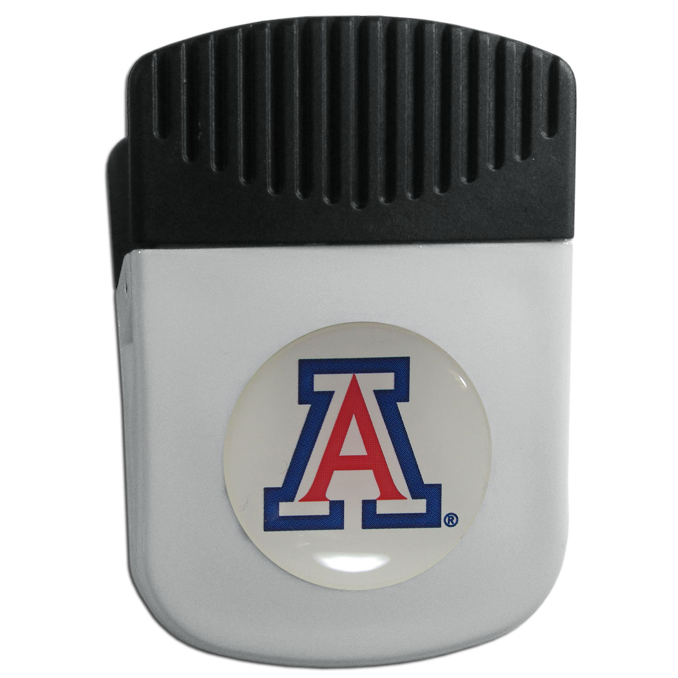 Arizona Wildcats Chip Clip Magnet - Use this attractive clip magnet to hold memos, photos or appointment cards on the fridge or take it down keep use it to clip bags shut. The magnet features a domed Arizona Wildcats logo.