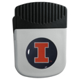Illinois Fighting Illini Chip Clip Magnet - Use this attractive Illinois Fighting Illini clip magnet to hold memos, photos or appointment cards on the fridge or take it down keep use it to clip bags shut. The magnet features a domed Illinois Fighting Illini logo.
