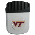 Virginia Tech Hokies Chip Clip Magnet - Use this attractive clip magnet to hold memos, photos or appointment cards on the fridge or take it down keep use it to clip bags shut. The magnet features a domed Virginia Tech Hokies logo.