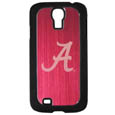Alabama Crimson Tide Etched Samsung Galaxy S4 Case - This ultra cool hard shell snap on case provides great protection for the phone while the soft rubber finish adds to your grip to help prevent dropping the phone. This stylish case is finished off with a brushed metal team plate with laser etched Alabama Crimson Tide team logo. Thank you for shopping with CrazedOutSports.com