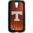 Tennessee Volunteers Etched Samsung Galaxy S4 Case - This ultra cool hard shell snap on case provides great protection for the phone while the soft rubber finish adds to your grip to help prevent dropping the phone. This stylish case is finished off with a brushed metal team plate with laser etched team logo. Thank you for shopping with CrazedOutSports.com