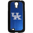 Kentucky Wildcats Etched Samsung Galaxy S4 Case - This ultra cool hard shell snap on case provides great protection for the phone while the soft rubber finish adds to your grip to help prevent dropping the phone. This stylish case is finished off with a brushed metal team plate with laser etched Kentucky Wildcats team logo. Thank you for shopping with CrazedOutSports.com
