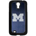 Michigan Wolverines Etched Samsung Galaxy S4 Case - This ultra cool hard shell snap on Michigan Wolverines Etched Samsung Galaxy S4 Case provides great protection for the phone while the soft rubber finish adds to your grip to help prevent dropping the phone. This stylish Michigan Wolverines Etched Samsung Galaxy S4 Case is finished off with a brushed metal team plate with laser etched Michigan Wolverines team logo. Thank you for shopping with CrazedOutSports.com
