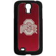 Ohio St. Buckeyes Etched Samsung Galaxy S4 Case - This ultra cool hard shell snap on case provides great protection for the phone while the soft rubber finish adds to your grip to help prevent dropping the phone. This stylish case is finished off with a brushed metal team plate with laser etched Ohio St. Buckeyes team logo. Thank you for shopping with CrazedOutSports.com